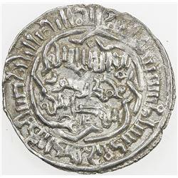 AYYUBID OF YEMEN: al-Nasir Ayyub, 1202-1214, AR dirham (2.06g), 'Adan, AH610. EF