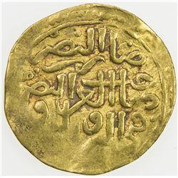 OTTOMAN EMPIRE: Suleyman I, 1520-1566, AV sultani (3.41g), Jazayir, AH926. VF