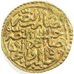 OTTOMAN EMPIRE: Suleyman I, 1520-1566, AV sultani (3.50g), Kostantiniye, AH926. VF-EF