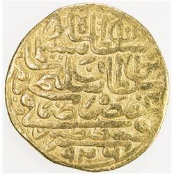 OTTOMAN EMPIRE: Suleyman I, 1520-1566, AV sultani (3.43g), Misr, AH926. F-VF