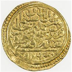 OTTOMAN EMPIRE: Suleyman I, 1520-1566, AV sultani (3.47g), Sidre Kapsi, AH926. VF