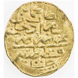 OTTOMAN EMPIRE: Mehmet III, 1595-1603, AV sultani (3.04g), Kostantiniye, AH1003. EF