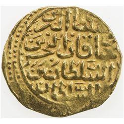 OTTOMAN EMPIRE: Mehmet III, 1595-1603, AV sultani (3.46g), Misr, AH1003