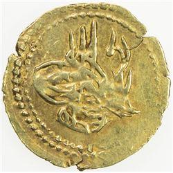EGYPT: Mahmud II, 1808-1839, AV 1/4 mahbub (0.40g), Misr, AH1223 year 16