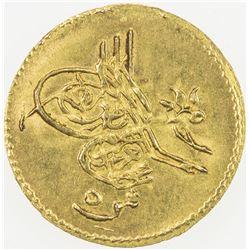 EGYPT: Abdul Aziz, 1861-1876, AV 5 qirsh (0.43g), Misr, AH1277 year 8. UNC