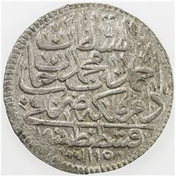 TURKEY: Ahmad III, 1703-1730, AR zolota (19.3g), Kostantiniye, AH1115. EF