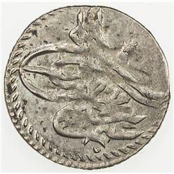 TURKEY: Osman III, 1754-1757, AR para (0.45g), Kostantiniye, AH1168. AU