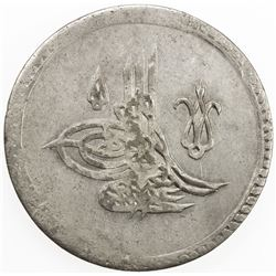 TURKEY: Abdul Hamid I, 1774-1789, AR 2 piastres (29.52g), Kostantiniye, AH1187 year 16. AU
