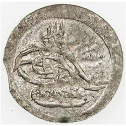 TURKEY: Mahmud II, 1808-1839, AR para (0.33g), Kostantiniye, AH1223 year 1. UNC