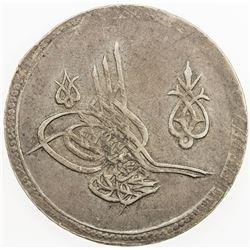 TURKEY: Mahmud II, 1808-1839, AR 2 piastres (12.97g), Kostantiniye, AH1223 year 14. EF