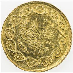 TURKEY: Mahmud II, 1808-1839, AV cedid mahmudiye (1.61g), Kostantiniye, AH1223 year 28. BU