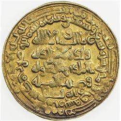 BUWAYHID: Baha' al-Dawla, 989-1012, debased AV dinar (4.26g), Suq al-Ahwaz, AH399. EF