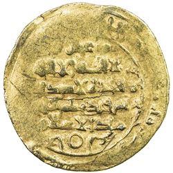 GHAZNAVID: Ibrahim, 1059-1099, AV dinar (5.23g) (Ghazna), AH(4)84. VF