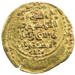 AMIR OF NISHAPUR: Toghanshah, 1172-1185 AH, AV dinar (2.33g), Nishapur, AH57(0?). VF