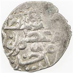 GIRAY KHANS: Nur Dawlat Giray, 1466, AR akce (0.59g), Qrim, AH871. VF-EF