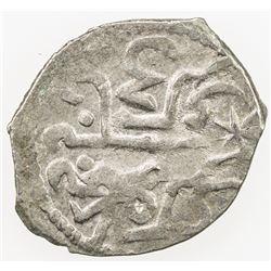 GIRAY KHANS: Mengli Giray I, 1466-1514, AR akce (0.65g), Kaffa, AH903. EF