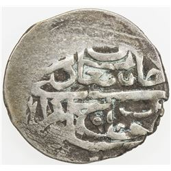 GIRAY KHANS: Sa'adat Giray III, 1717-1724, AR beshlik (0.93g), Baghcha-Saray, AH1129. VF