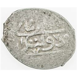 GIRAY KHANS: Qrim Giray, 2nd reign, 1768-1769, AR beshlik (1.05g), Baghcha-Saray, AH1182. VF-EF