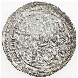 ILKHAN: Hulagu, 1256-1265, AR dirham (2.62g), Mardin al-Mahrusa, AH672. EF