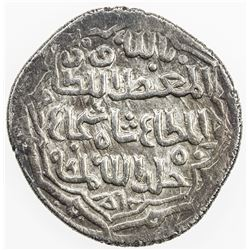 MUZAFFARID: Shah Shuja', 1358-1386, AR 2 dinars (4.29g), Yazd, blundered date. VF-EF