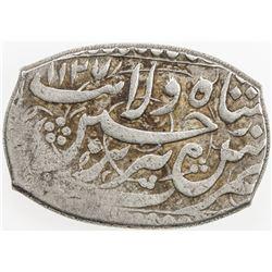 SAFAVID: Sultan Husayn, 1694-1722, AR rectagonal 5 shahi (8.72g), Tabriz, AH1127. VF