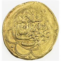 QAJAR: Muhammad Shah, 1837-1848, AV toman (3.44g), Isfahan, AH1256. VF