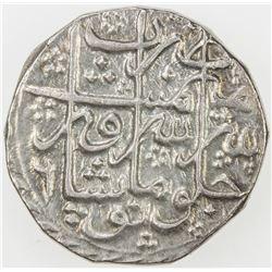 DURRANI: Shah Zaman, 1793-1801, AR rupee, Peshawar, AH121(4) year 6. EF