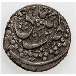 DURRANI: Kohandil Khan, 1840-1855, AR qandahari rupee, Ahmadshahi, AH1264, A-3151, KM-182.1, EF
