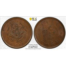 CHINA: Kuang Hsu, 1875-1908, AE 20 cash, ND (1903). PCGS MS62