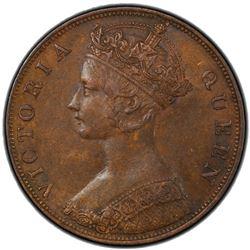 CHINA: HONG KONG: Victoiria, 1841-1901, AE cent, 1875