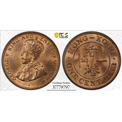 CHINA: HONG KONG: George V, 1910-1936, AE cent, 1933
