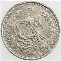 AFGHANISTAN: Abdul Rahman, 1880-1901, AR rupee, Kabul, AH1309. PCGS MS64