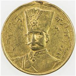 IRAN: Nasir al-Din Shah, 1848-1896, AV toman, Tehran, AH13[0]4. VF