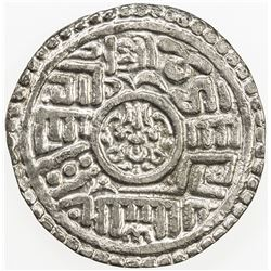 NEPAL: KATHMANDU: Pratap Malla, 1641-1674, AR mohar, NS761. VF