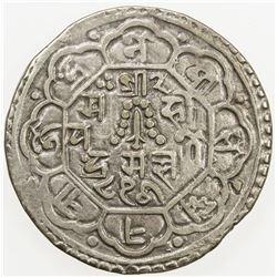 NEPAL: KATHMANDU: Prakash Malla, 1735-1746, AR mohar, NS856. VF
