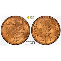 PALESTINE: British Mandate, AE 2 mils, 1927. PCGS MS64