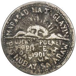 PHILIPPINES: AR anting-anting medal (32.21g), 1901. G-VG