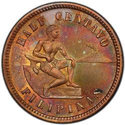 PHILIPPINES: US Territory, AE 1/2 centavo, 1904. PCGS MS64