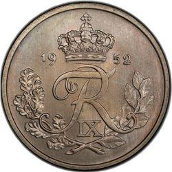 DENMARK: Frederick IX, 1947-1972, 25 ore, 1952. PCGS MS65