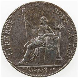FRANCE: AE 2 sols, 1791. AU