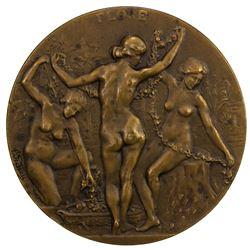 FRANCE: AE medal (65.66g), ND (ca. 1910?). AU