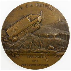 FRANCE: AE medal (160.7g), ND (ca. 1918). AU