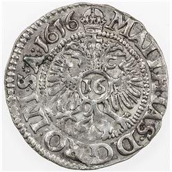 BRUNSWICK-HARBURG: Wilhelm VI August, 1603-1642, AR 1/16 thaler, 1616. EF