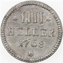 COLOGNE (CITY): uniface 4 heller (10.30g), 1768. AU
