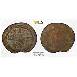 NUREMBERG: Free Imperial City, AR pfennig, 1677. PCGS MS64
