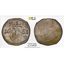 NUREMBERG: Free Imperial City, AR pfennig, 1681. PCGS MS64