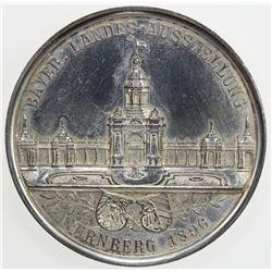 NUREMBERG: AE medal (52.67g), 1896. AU