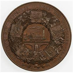 PRUSSIA: AE medal (52.95g), 1844. AU