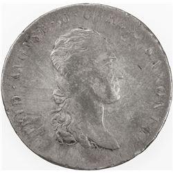 SAXONY: Friedrich August I, 1806-1827, AR thaler, 1812. VF-EF