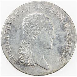 SAXONY: Friedrich August I, 1806-1827, AR thaler, 1816. VF-EF